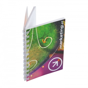 NOTEPAD A7 PP COVER WITH SPIRAL4 COLORS 2 SIDES