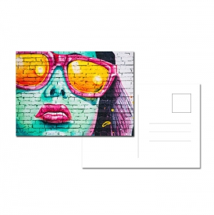 POSTCARDS 300 GRS 168X130MM 4 COLORS 1 SIDE + BLACK 1 SIDE