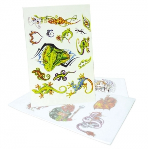 TATTOO CARD 21X14CM FULL COLOR PRINT