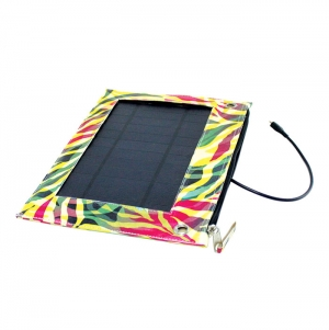 TYVEK BAG WITH SOLAR PANEL, CAN CHARGE ANY DEVICE, FULL COLO