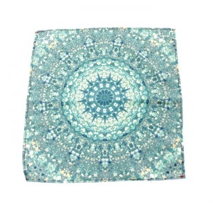SQUARE SCARF IN POLYESTER WITH SEAM, FULL COLOR PRINT