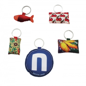 KEYCHAIN 8X8CM POLYESTER WITH FILLING, FULL COLOR PRINT